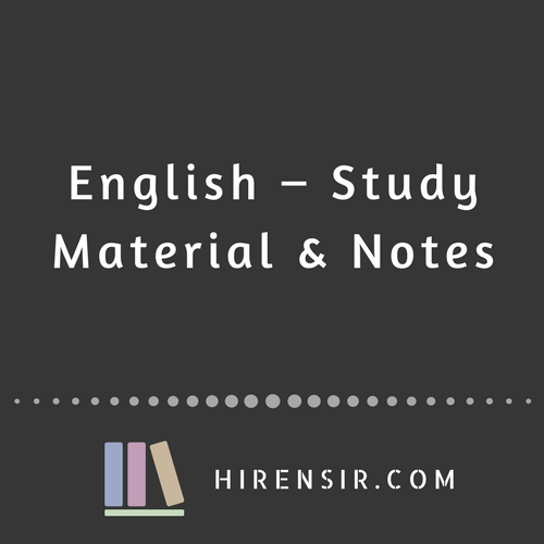 English – Study Material & Notes