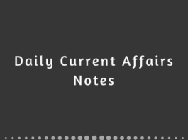 Daily Current Affairs Notes