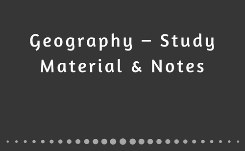 Indian Geography PDF and Notes