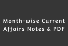 Months Wise Current Affairs Notes & PDF