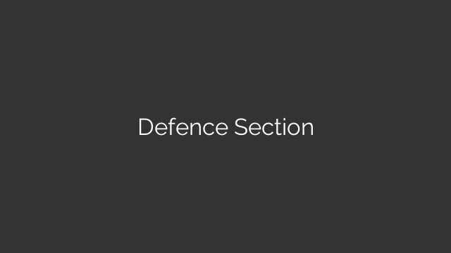 Defence Section