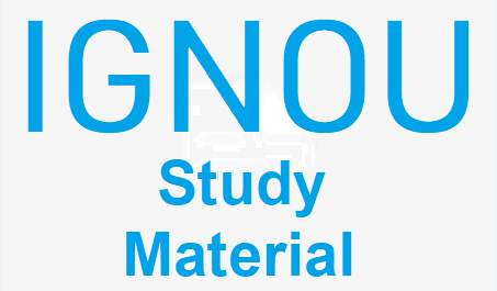 ignou study materials PDF and Notes