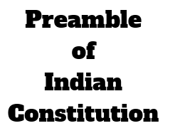 Constitution of India preamble