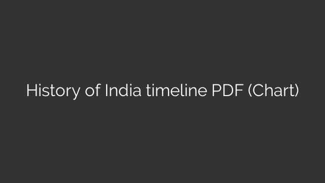 History of India timeline PDF (Chart)
